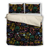 Brusher Chicken Colorful Watercolor Random Lovely Bedding Set