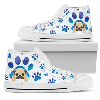 Pug Paws High Top Shoes