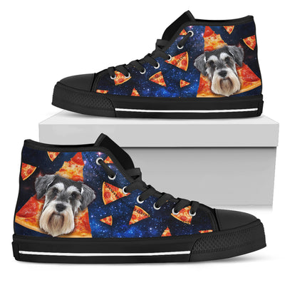 Pizza Schnauzer Pattern High Top Shoes