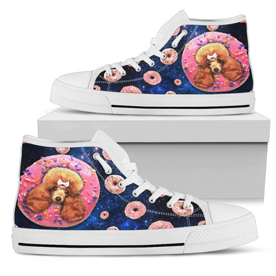Donut Poodle Pattern High Top Shoes
