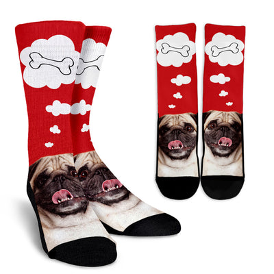 Nice Pug Socks - Pug Face 3D Print, is a cool gift for friends