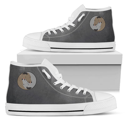 Greyhound Yin Yang Style High Top Shoes