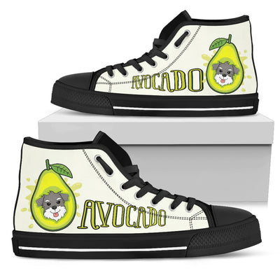 Schnauzer - Avocado High Top Shoes
