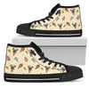 Pug Ice Cream Fabric Pattern High Top Shoes