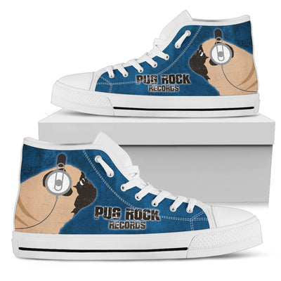 Pug Blue Rock Records High Top Shoes