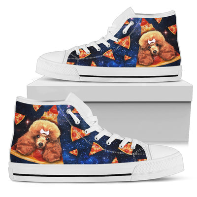 Pizza Poodle Pattern High Top Shoes