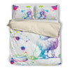 Poodle Watercolor White Background Bedding Set