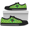 Happy St. Patrick's Day Vintage Style Doberman Low Top Shoes