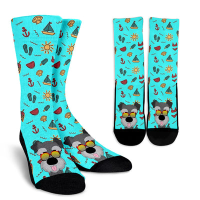 Cool Schnauzer Wearing Sunglasses Cool Summer Socks