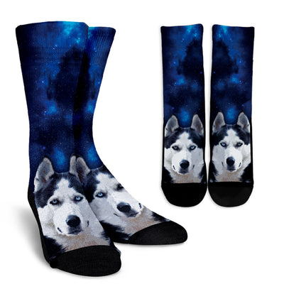 Nice Husky Socks - Husky Galaxy, is a cool gift for your friends