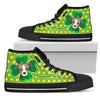 Happy St. Patrick's Day Vintage Style Greyhound High Top Shoes