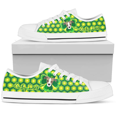 Happy St. Patrick's Day Vintage Style Greyhound Low Top Shoes