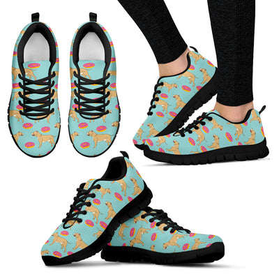 Pitbull Retro Donuts Pattern Sneakers Cute Gift