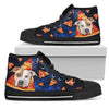 Pizza Pitbull Pattern High Top Shoes