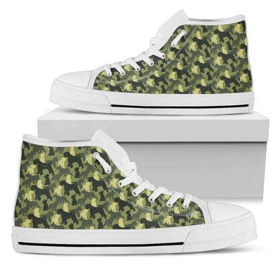 Camouflage Soldier Military Schnauzer High Top Shoes