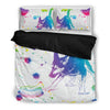 German Shepherd Watercolor White Background Bedding Set