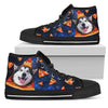 Pizza Husky Pattern High Top Shoes