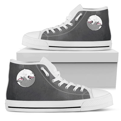 Samoyed Yin Yang Style High Top Shoes