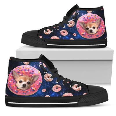 Donut Chihuahua Pattern High Top Shoes
