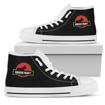 High Top Shoes Jurassic Park Siberian Husky