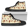 German Shepherd Ice Cream Fabric Pattern High Top Shoes