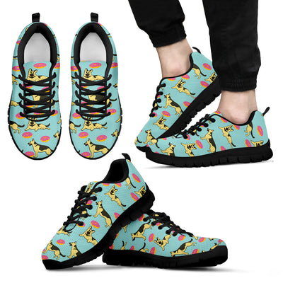 German Shepherd Retro Donuts Pattern Sneakers Cute Gift