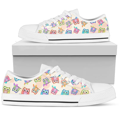 Nursery Owl Pattern Low Top Shoes