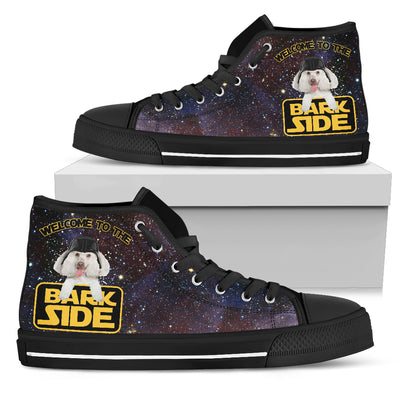 Poodles Welcome To The Bark Side High Top Shoes