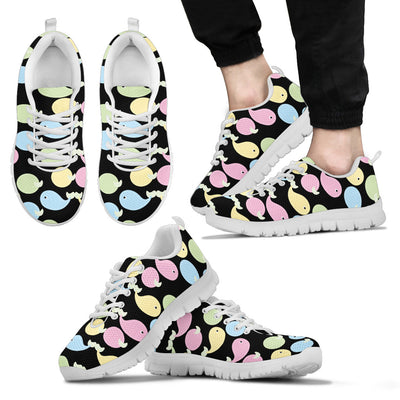 Baby Whale Pastel Dot Mini Stripes Pattern Sneakers