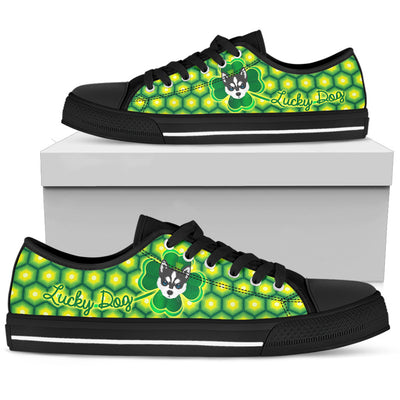 Happy St. Patrick's Day Vintage Style Husky Low Top Shoes