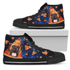 Pizza Boxer Pattern High Top Shoes