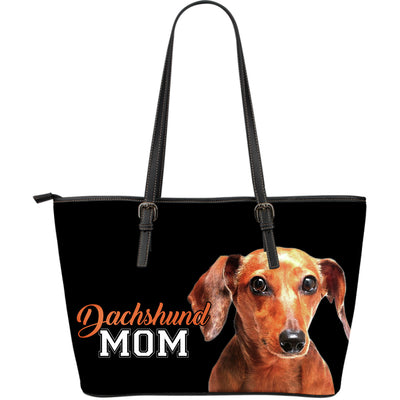 Dachshund Mom Leather Bag