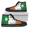 Happy St. Patrick's Day Samoyed High Top Shoes