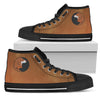 Dachshund Yin Yang Style High Top Shoes