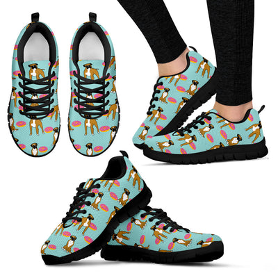 Boxer Retro Donuts Pattern Sneakers Cute Gift