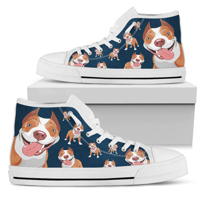 Pitbull Face Pattern High Top Shoes