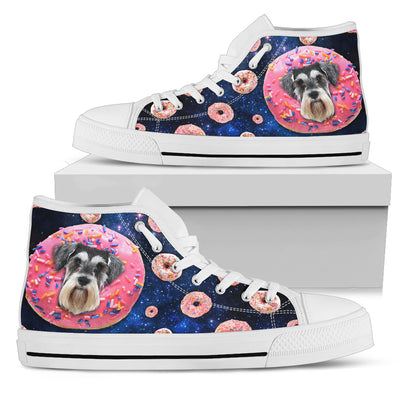 Donut Schnauzer Pattern High Top Shoes