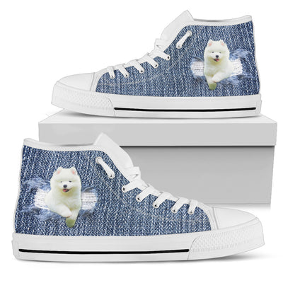 Break The Wall Samoyed High Top Shoes
