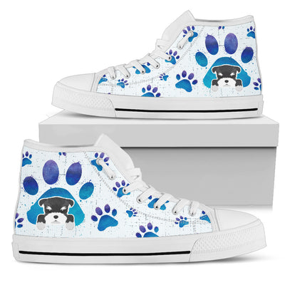 Schnauzer Paws High Top Shoes