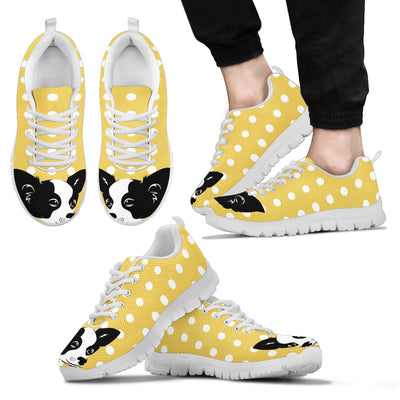 Chihuahua Face Pastel Yellow White Dot Vintage Sneakers