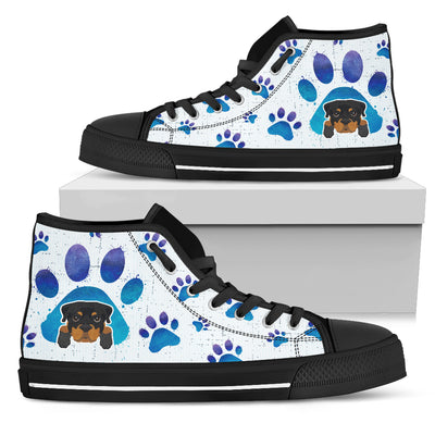 Rottweiler Paws High Top Shoes