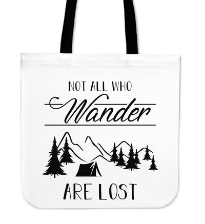 Camping Not All Who Wander Are Lost Tote Bag