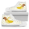 High Top Shoes Chihuahua Inside Banana Funny Gift