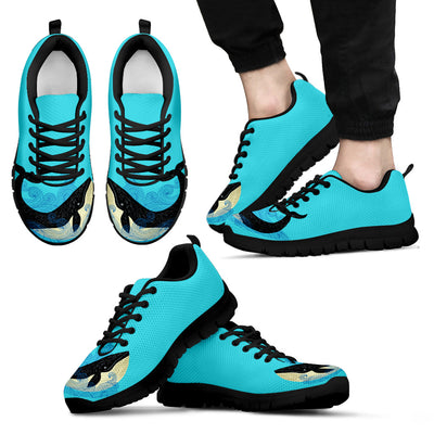 Whale Black Blue Beautiful Stylish Sneakers