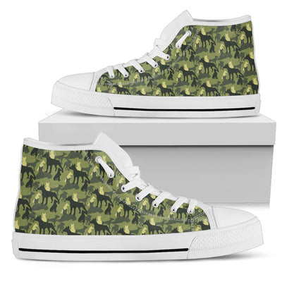 Camouflage Soldier Military Doberman High Top Shoes