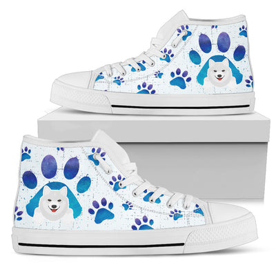 Samoyed Paws High Top Shoes