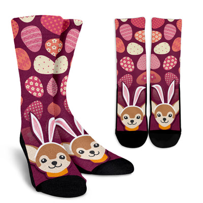 Easter Chihuahua Pattern Socks