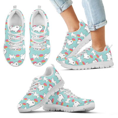 Samoyed Retro Donuts Pattern Sneakers Cute Gift