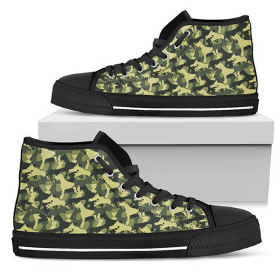 Camouflage Soldier Military Boxer High Top Shoes