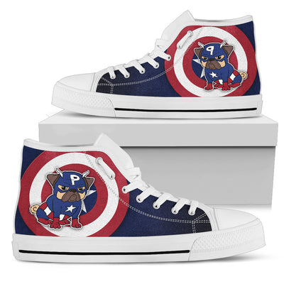 Captain Pug High Top Shoes V1
